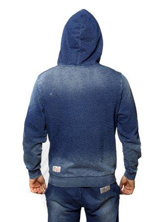 """LEONE - MIKINY """"Jeans"""" S [LSM1524_niebieska]"""